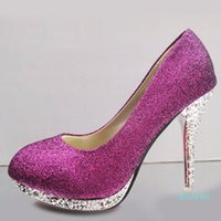 Glitter Wedding Shoes Bridal Evening Party Crystal Red Bottom High Heels Women Shoes Sexy Women's Pumps Bridal Shoes 2