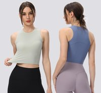 Yoga Tank Tops Running Fitness Sports Vest Gym Clothes Women Workout Shirt Solid Color Casual Blouses