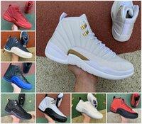 Jumpman 12 12s Obsidian Mens Baloncesto Zapatos de baloncesto Juegos de gripe inversa Royal Twist Utility Playoffs Pascua Gamma Blue Ovo White Oscura Sneakers