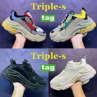 2021 Мода Casula Обувь Triple-S Мужчины Женщины Тренажерный зал Красный Синий Черный Белый Бежевый Зеленый Желтый Платформенный Кроссовки Знакомства Вечеринка Triple S Обуви