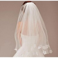 Bridal Veils 2021 Top Quality Wedding Accessories Real Po Elegant White Short Veil Birdcage Ivory One Layer Lace Edge