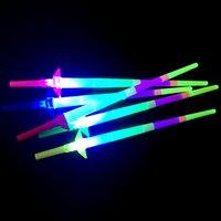 Noel Yeni Yıl Hediye Renkli Konser Glow Glow Sopa Dört Teleskopik Sopa Tezahürat Flaş Destek Çubuk Çocuk Oyuncakları