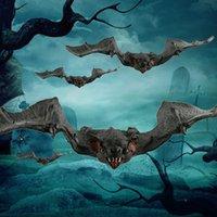 1pcs Simulation Bats Trick Toys Halloween Decoration Horror Bat Hanging Props Animal Bats Model Toy Kids Prank Gifts