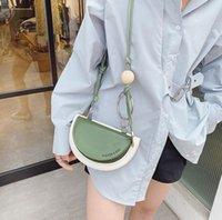Niche Design Female Bags Hit Color Saddle Bag Wild One-Shoulder Messenger Handbag