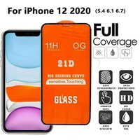 Tempered Glass Screen Protector 21D 11H 0.3mm Full Cover Full Glue For iPHONE 12 11 PRO MAX XR XS Samsung A01 A11 A21 A21S A31 A41 A51 A71