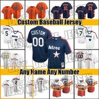 레트로 사용자 정의 Astros Jose Altuve Jersey Carlos Correa Houston Jerseys Alex Bregman Zack Greentke Jersey Yordan Alvarez Jeff Bagwell ZC454
