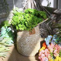 Faux Flower Greenery 5 Color Real Touch Мягкая резина Искусственный рис Tsai Ball Fruit Hydrangea Моделирование Поддельные цветочные суккулентные растение 2022 V2