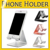 Mobile Phone Tablet Desk Holder Aluminum Metal Stand For iPhone iPad Mini Samsung Smartphone Tablets Laptop