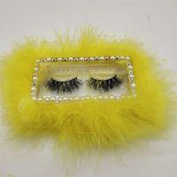 Caja de pestañas de pestañas de plumas portátil Pestañas de pestañas caja de embalaje Acrílico Caja de regalo 9 colores Suministros de embalaje de moda 532 V2