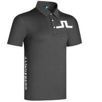 Abbigliamento da golf manica corta estate T-shirt da uomo 3 colori all'aperto Camicia sportiva per il tempo libero S-XXL in scelte