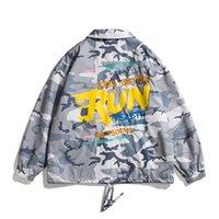 spring new 2021 trend versatile camouflage Lapel coach jacket men's neutral student couple top