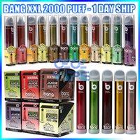 Bang XXL 일회용 vape 펜 전자 담배 장치 800mAh 배터리 6ml 포드 2000 퍼프 증기 키트 vs flum float 큰 막대