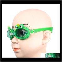 Água Outdoorswater Sports Children crianças meninos meninas meninas óculos de natação com tampões de ouvido antifog À prova d 'água óculos de mergulho nadar óculos sile / fe