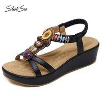 Салон сандалии Siltentaea Sandips Повседневная плоская модная обувь весенний летний пляж