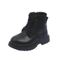 Children Boots Kids Shoes Girls Boys Footwear Autumn Winter Short Boot Moccasins Soft Leather Knitting Student Wear B8185