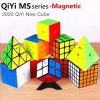 Qiyi MS Series Magnetic 2x2 3x3 4x4 5x5 MOFANGGE MAGIC CUBE STINKERLINS Twisty Pyramid Imanes Puzzle Speed Cubes Educativo Juguete