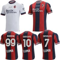 21 22 Bologna Futbol Formaları Eve Uzakta Beyaz 2021 2022 Camisetas Barrow Orsolini Soriano Tomiyasu Sansone Dominguez Futbol Gömlek Top Tayland Kalite Maollots