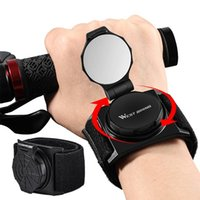 Bike Groupsets WEST BIKING Wrist Rearview Mirror 360 Degree Rotating Adjustable Arm Strap Bicycle MTB Road Accessories