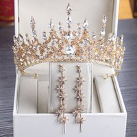 Princesa de luxo 2021 Headpieces de casamento nupcial tiara rhinestone coroa peças de cabeça de cristal acessórios de cabelo Acessórios de cabelo prata noite noite noiva