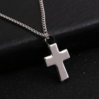 Pendant Necklaces Cremation Jewelry With Silver Plated Cross Shaped Memorial Ash Keepsake Urn Necklace For Men Women
