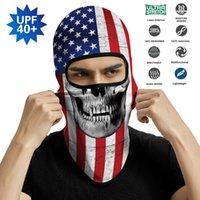 Yaz Rüzgar Geçirmez Balaclava Maskesi Kafa Bandı Kulaklık Yüz Kapak Kafa Eşarp Bandana Erkekler Kominiarka ABD Bayrağı Amerikan Tekrar Büyük Olun
