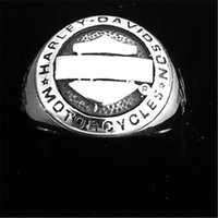 5pcs lot Size 7-14 Motorbiker Style Biker Ring For Man 316L Stainless Steel Gold Silver Shield Motorcycles Rider Ring