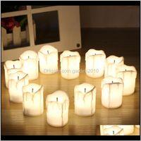 12pcsset Halloween LED Velas Flameless Timer Vela Tealights Bateria Luzes Elétricas Luzes Elétricas Flicking Tealight para Wedding HDL1F KFH9E