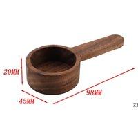 Wooden Coffee Scoop Measuring Spoon Black Walnut Wood Kitchen Scoop Measuring Spoon For Sugar Powder Wholesale OWD11138