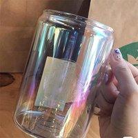 المبيعات الساخنة 700 ملليلتر ستاربكس كأس الإبداعية تصميم الزجاج الشرب القش البارد مشروب كأس الإفطار حليب كأس الليزر الطباعة 1909 v2