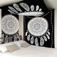 2020 Mandala Tapisserie Polyester 150 * 130 cm Rechteck Tapisserie Wand Hängende Teppich Turly Yoga Matte für Home Schlafzimmer Dekoration 518 s2