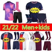 21 22 Erkekler Çocuklar Maillots De Futbol Kiti Paris 2021 Mbappe Futbol Jersey Top Di Maria Kean Üçüncü Formalar Icardi Verticti Dördüncü Futbol Gömlek