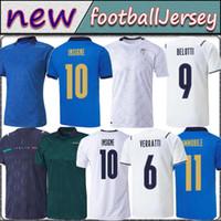 2021 2122 إيطاليا Soccer Jersey Home Away Jorginho El Shaarawy Bonucci Insigne Bernardeschi البالغين للاعبين المشجعين KID KIT كرة القدم