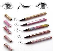 2 in 1 Glue Eyeliner Pen for False Mink Eyelash Waterproof Self-adhesive Glue-free Eye liner Pencil Long Lasting Fast Drying Eyelashes Extension Makeup Tool