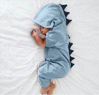 الوليد الرضع طفل رضيع فتاة ديناصور مقنعين رومبير بذلة ملابس ملابس Kawaii الصلبة الملابس بذلة للجنسين 123 Q2