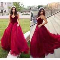 Party Dresses Modest Red Velvet Prom Floor Length 2021 Sweetheart Vestidos De Fiesta Noche A Line Imported Dress Formal Gowns