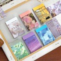 50pcs / pack IG Style Style Mémo Pad Kawaii Notes Sticky Notes d'écriture Mémo Notes Notes de décoration de Scrapbook Notes pour Diary Album Décoration