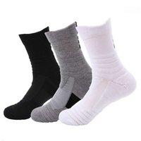 sock Men's sports running badminton, outdoor elite fleece socks, sweat absorbing and skid basketball socks