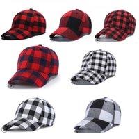 Plaid Cotton Baseball Caps Ponytail Ball Hat for Women Men Peaked Cap Korea Style Outdoor Sports Snapback Caps Adjustable Visor Hats D9909