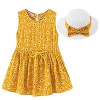 Clothing Sets Baby Girls Dresses Princess Dress Toddler Kids Flower Vest Floral Ruffle Mesh Summer Clothes Wedding Party