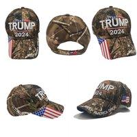Trump 2024 Snapbacks Publical US General Election Casquette Gardez l'Amérique Grands Casquettes de baseball Camouflage réglable 13 5YX T2