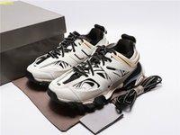 2021 Top Triple S 3.0 Jogging-Schuhe Tess Gomma Maille weiße / orangefarbene Spur abgenutzt Herren- und Damen-Dreiergen-Outdoor-Konzept-Sportarten