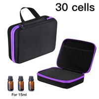 Storage Bags 60 Grids Essential Oil Case Portable Travel Bottle Organizer Perfume Carrying Holder Nail Polish Bag