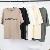 20sS Ins Frühling Sommer T-shirt Hip Hop Angst vor Gott Front Essentials 3D Silikon T-Stück Skateboard T-shirt Nebel Männer Frauen Kurzarm Casualvnri #