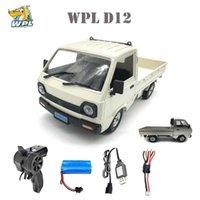 WPL D12 1/10 2wd rc سيارة محاكاة الانجراف شاحنة نحى 260 السيارات تسلق سيارة أدى ضوء على الطريق rc سيارة لعب للأولاد الاطفال هدايا 210907