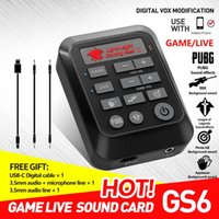 Sound Cards GS6 Game Live Card Mixer Streaming DSP For PC 3d Audio Adapter Laptop Accessories