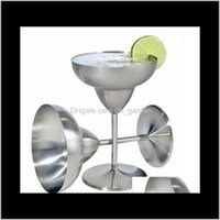 Gläser Trinkküche Küche Essgarten Drop Lieferung 2021 Margarita Edelstahl Wein Becher Cocktail Martini Whisky Cups für Restaurant