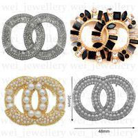 特別オファーデザイナーブローチダイヤモンド高級ブローチパールCレターブローチピンエレガントなファッション女性衣装ジュエリー高品質