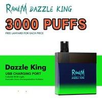 Latest model factory Wholesale RandM Dazzle King 3000 puffs E Cigarettes Disposable Vape
