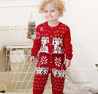 Baby christmas party sweater romper fall winter infant boys girls long sleeve jumpsuits toddler kids xmas climb clothes Q2900