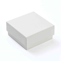 مستطيل / مربع الرخام الورق المقوى الهدايا من الورق المقوى للقلادة سوار خواتم الكرتون التعبئة والتغليف تخزين مربع